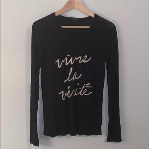 ARITZIA Talula Vivre La Vérité T-shirt